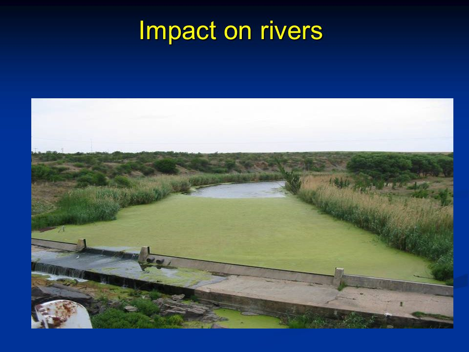 Impact on rivers