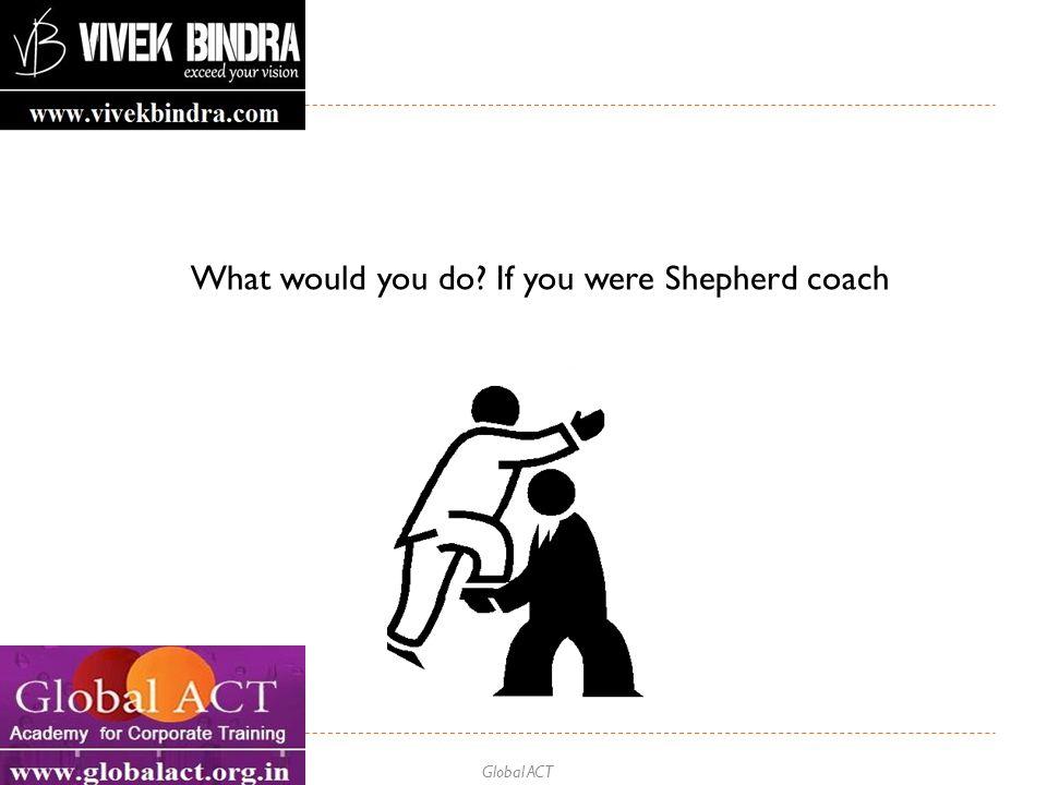 Global ACT What would you do? If you were Shepherd coach