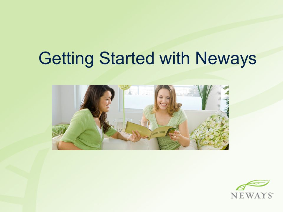 Getting Started with Neways