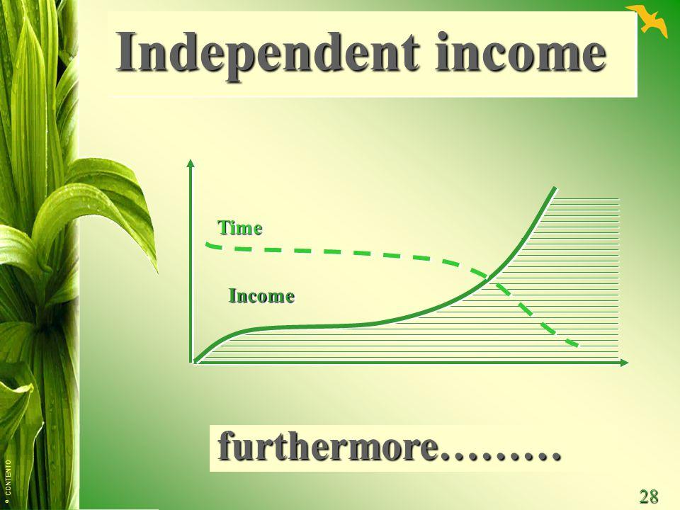 © CONTENTO 28 TimeTime IncomeIncome Independent income furthermore………