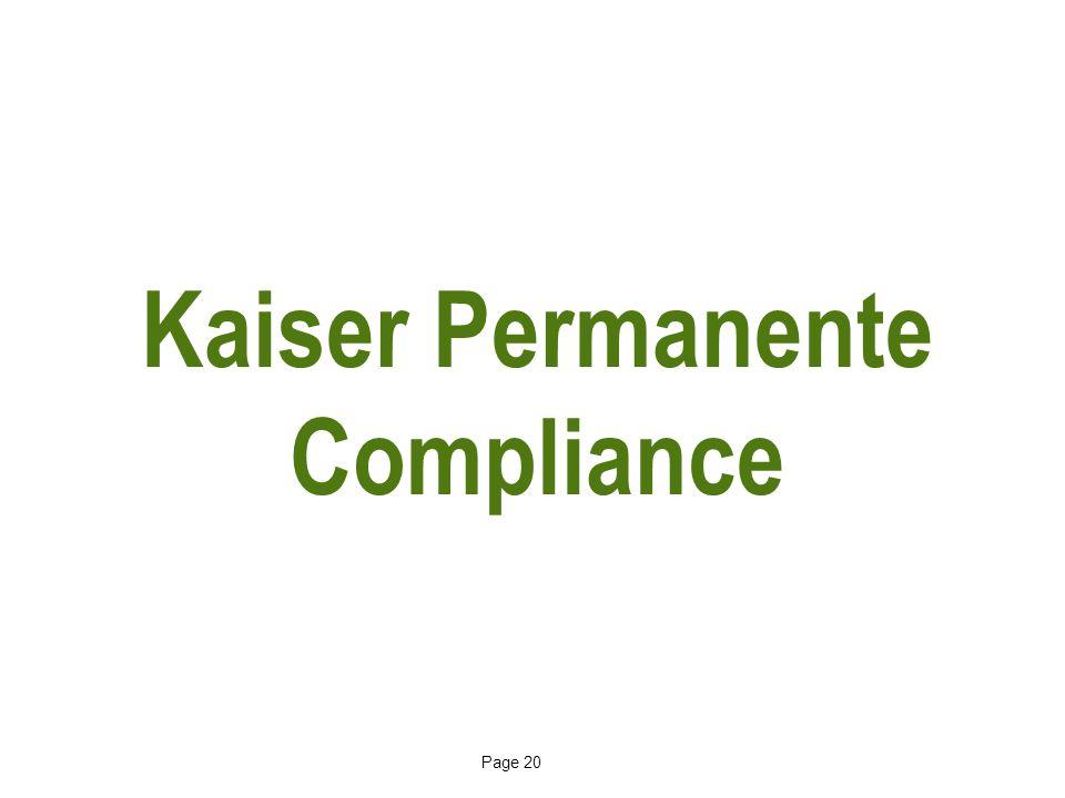 Page 20 Kaiser Permanente Compliance