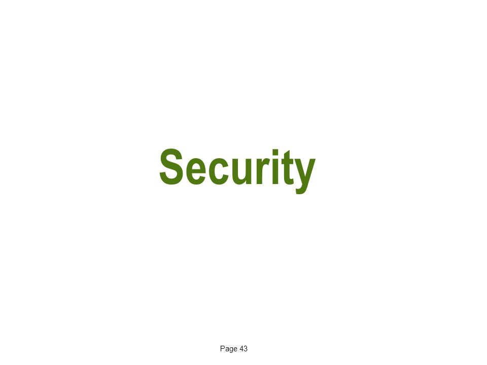 Page 43 Security