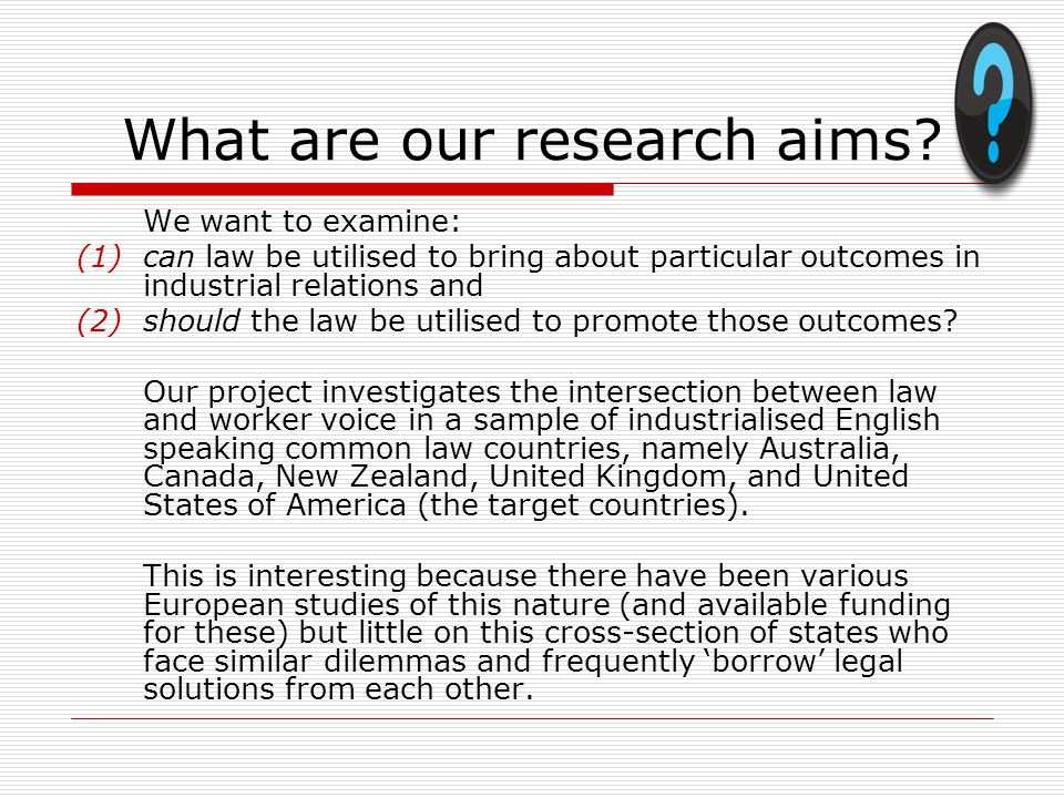 What are our research aims.