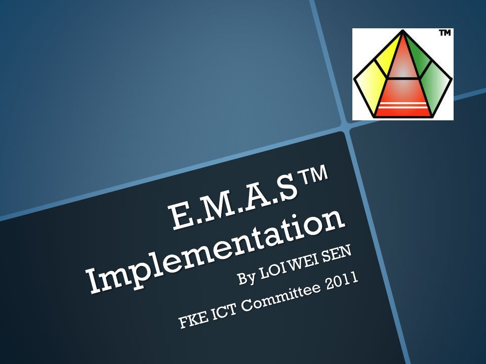Briefly: E.M.A.S  EMAS is like stock control system for managing FKE Store.