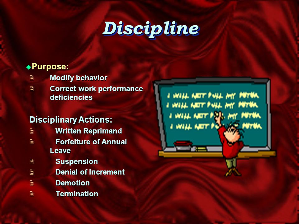 When All Else Fails Progressive Discipline