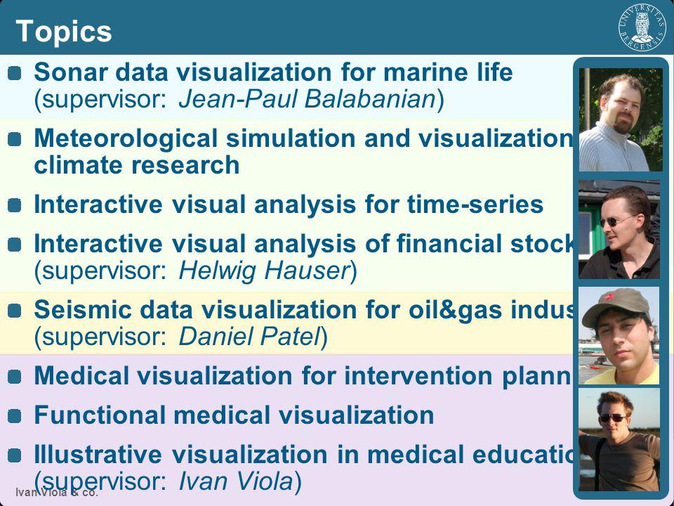 Sonar Data Visualization for Marine Life Ivan Viola & co.