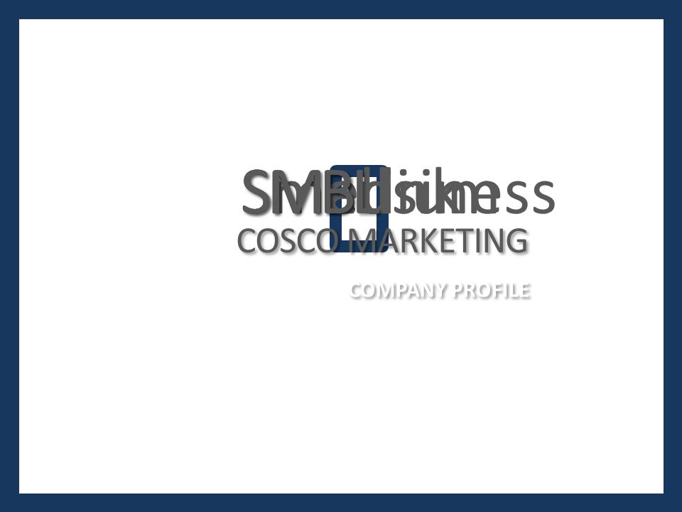 S S Small M M Medium B B Business L L Link S S M M B B COMPANY PROFILE COSCO MARKETING