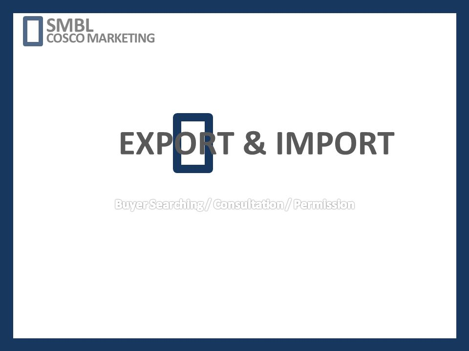 EXPORT & IMPORT SMBL COSCO MARKETING