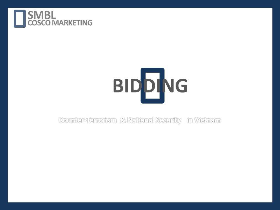 BIDDING SMBL COSCO MARKETING