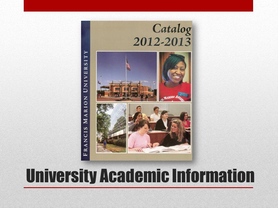 University Academic Information