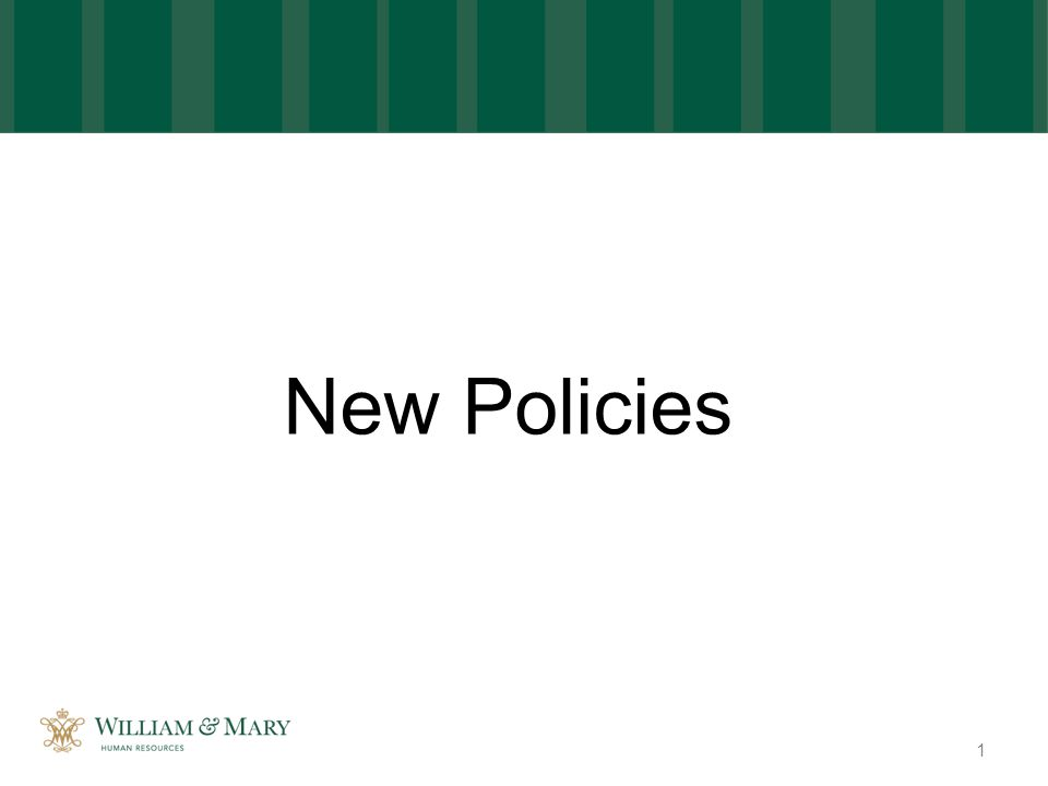 New Policies 1