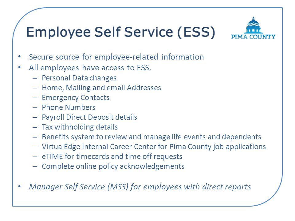 Once registered, follow detailed steps below for logging into ESS.