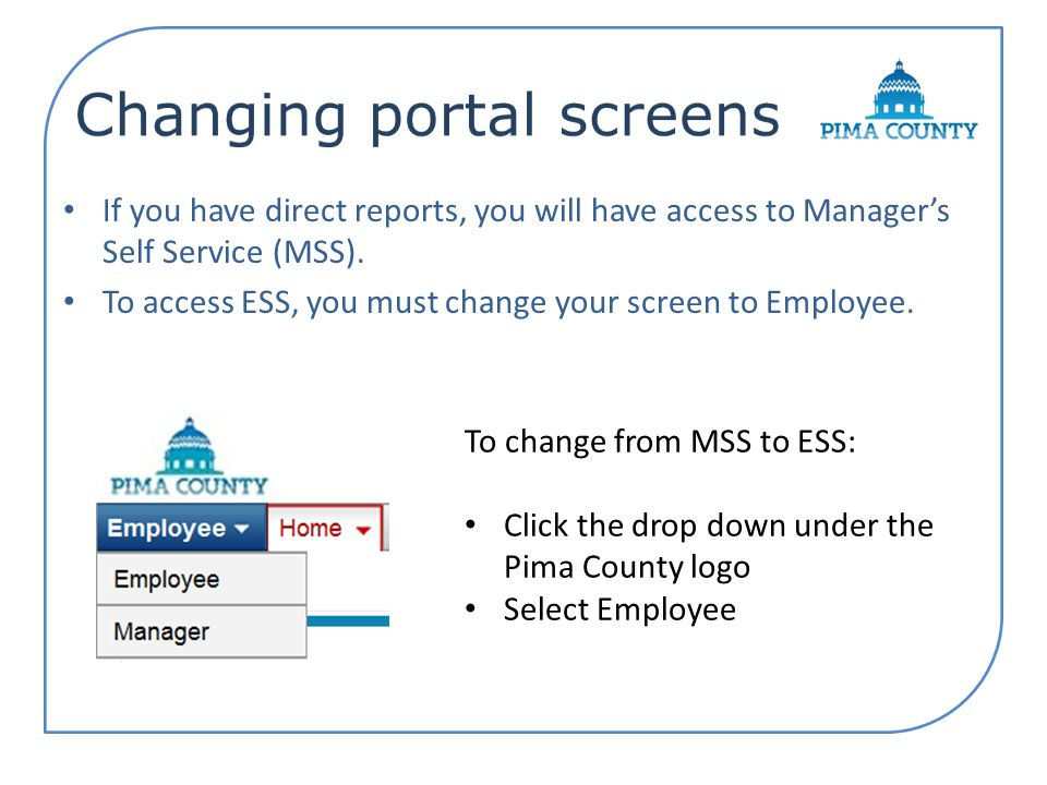 If you have direct reports, you will have access to Manager's Self Service (MSS).