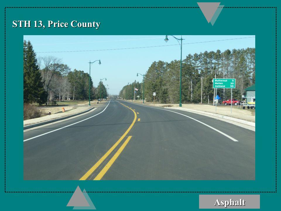 Asphalt STH 13, Price County