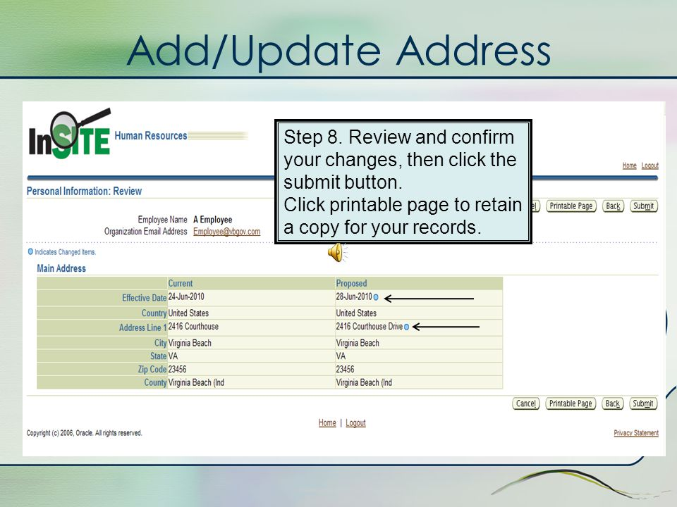 Add/Update Address Step 7. Enter in your zip code and click Next.