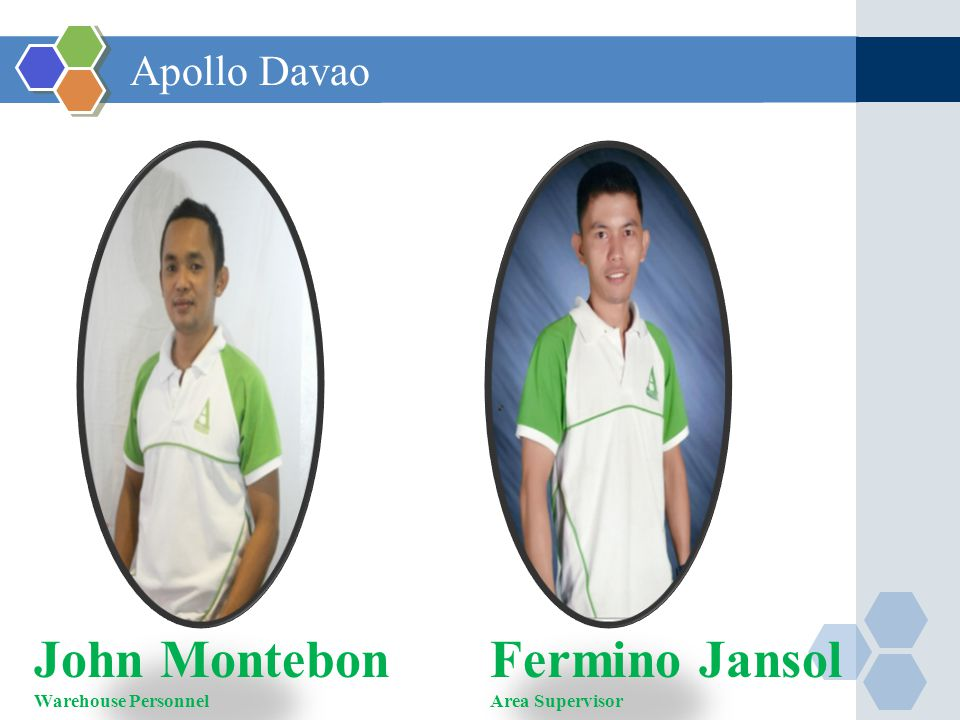 John Montebon Warehouse Personnel Fermino Jansol Area Supervisor