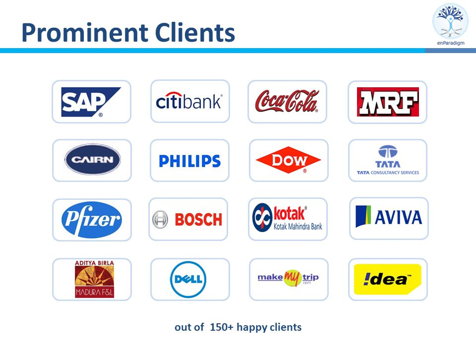 Prominent Clients out of 150+ happy clients