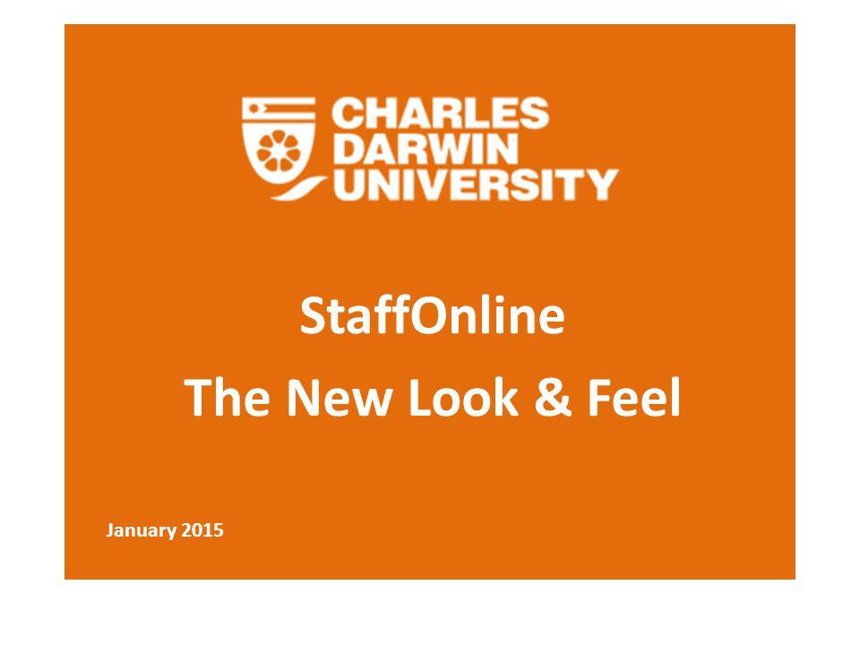 StaffOnline The New Look & Feel January 2015