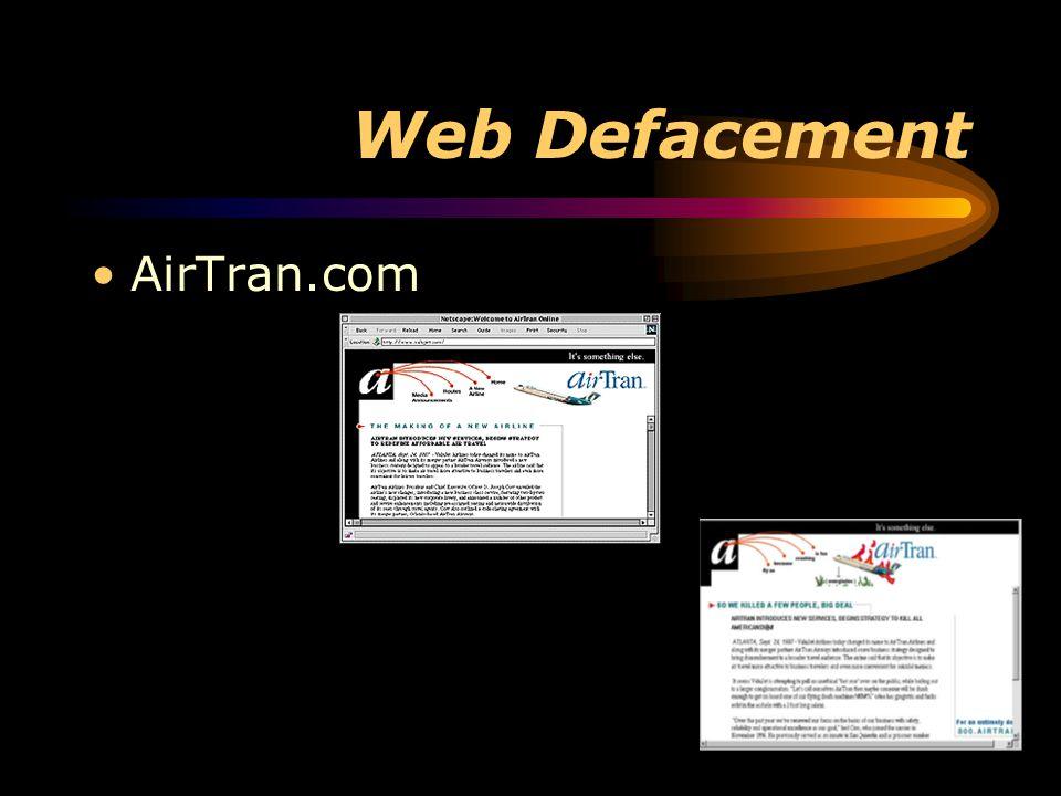 Web Defacement AirTran.com