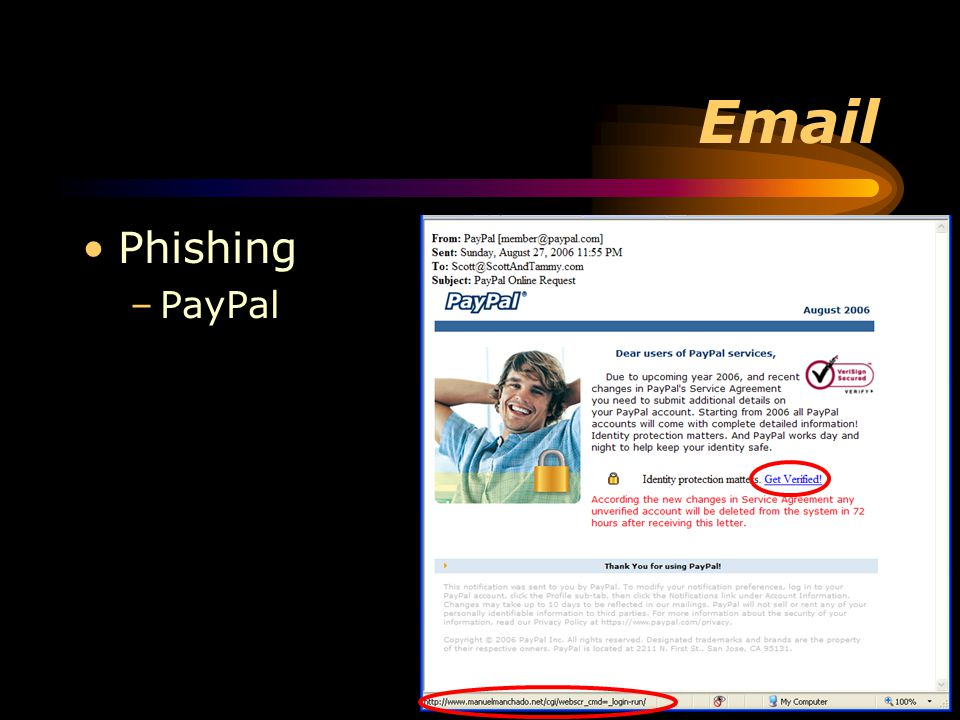 Email Phishing –PayPal