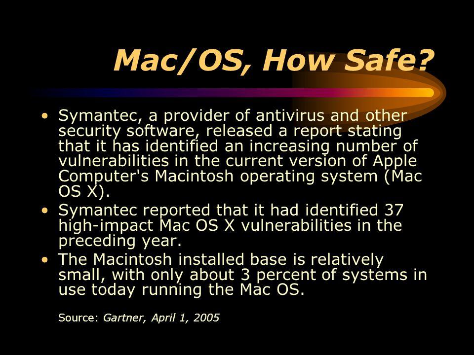 Mac/OS, How Safe.
