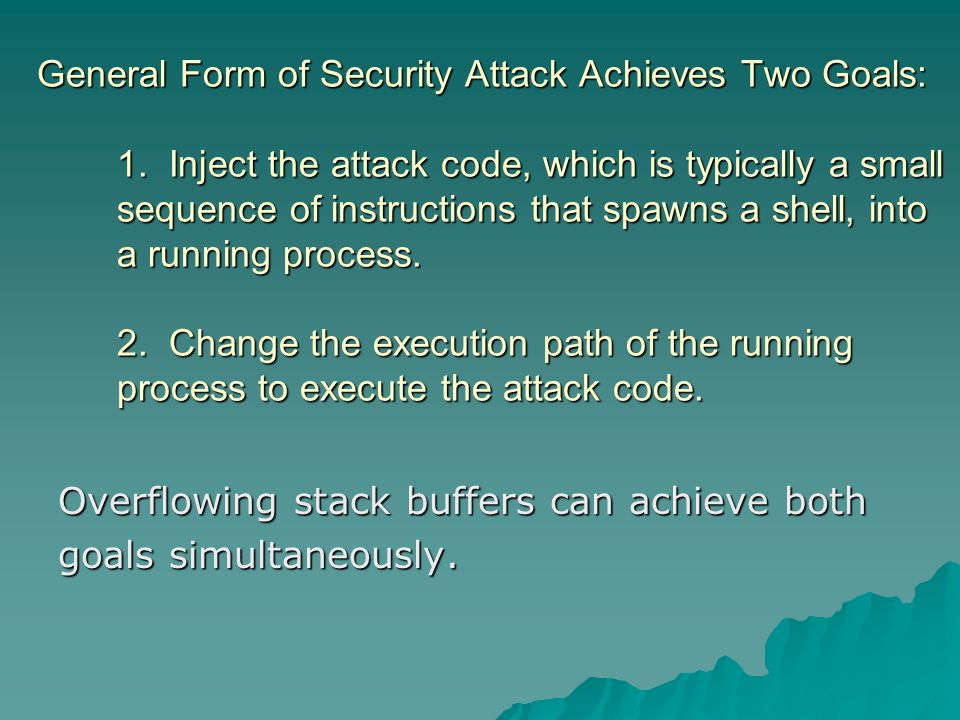 The attacker sees the following:  ------------------------------------------------------------------------- #./client 192.168.0.1 [*] stacheldraht [*] (c) in 1999 by...