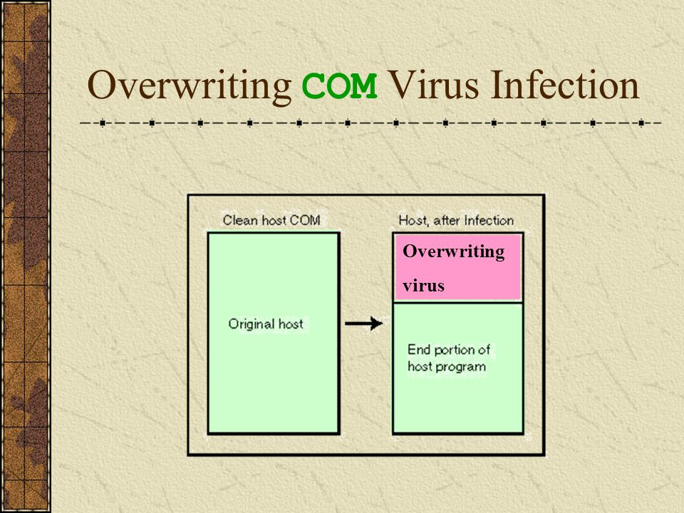 Overwriting COM Virus Infection Overwriting virus