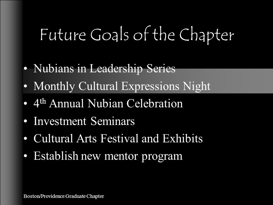 Chapter Orientation Philosophy To induct all prospective members who have developed into potential members, who will not only carry the torch for the organization but be diligent workers for the growth of the community and the chapter.