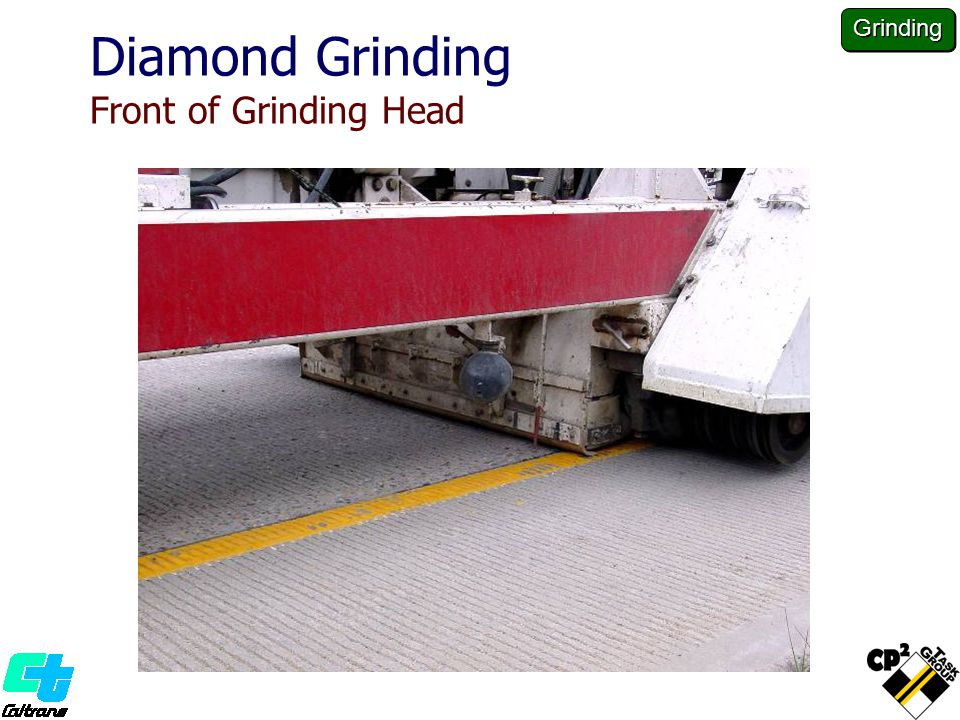 Diamond Grinding Front of Grinding Head Grinding