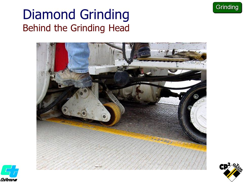 Diamond Grinding Behind the Grinding Head Grinding