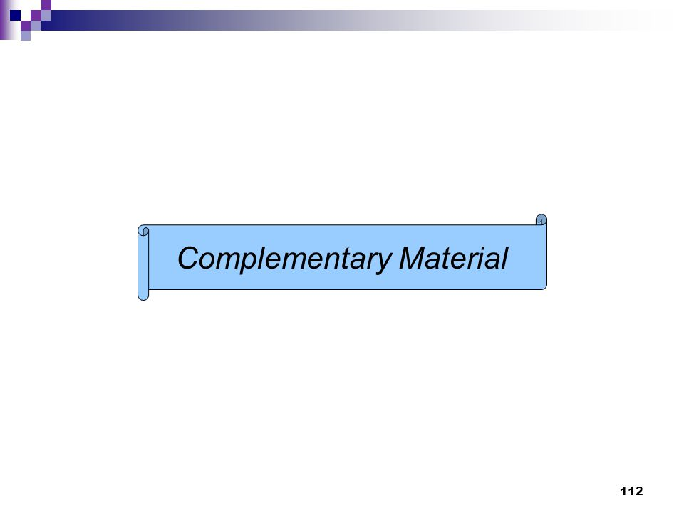 112 Complementary Material