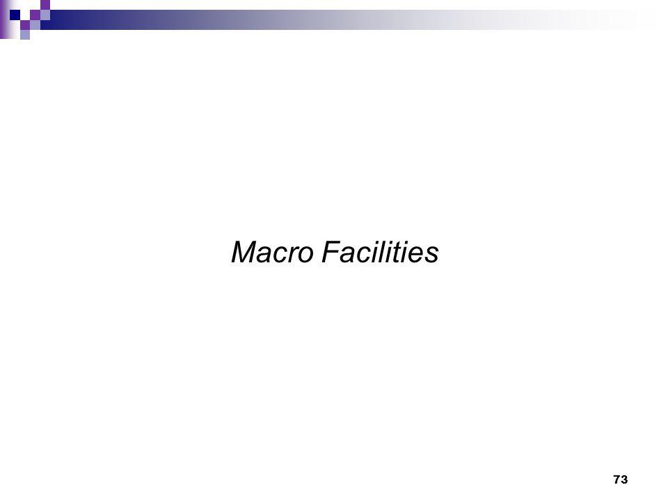 73 Macro Facilities