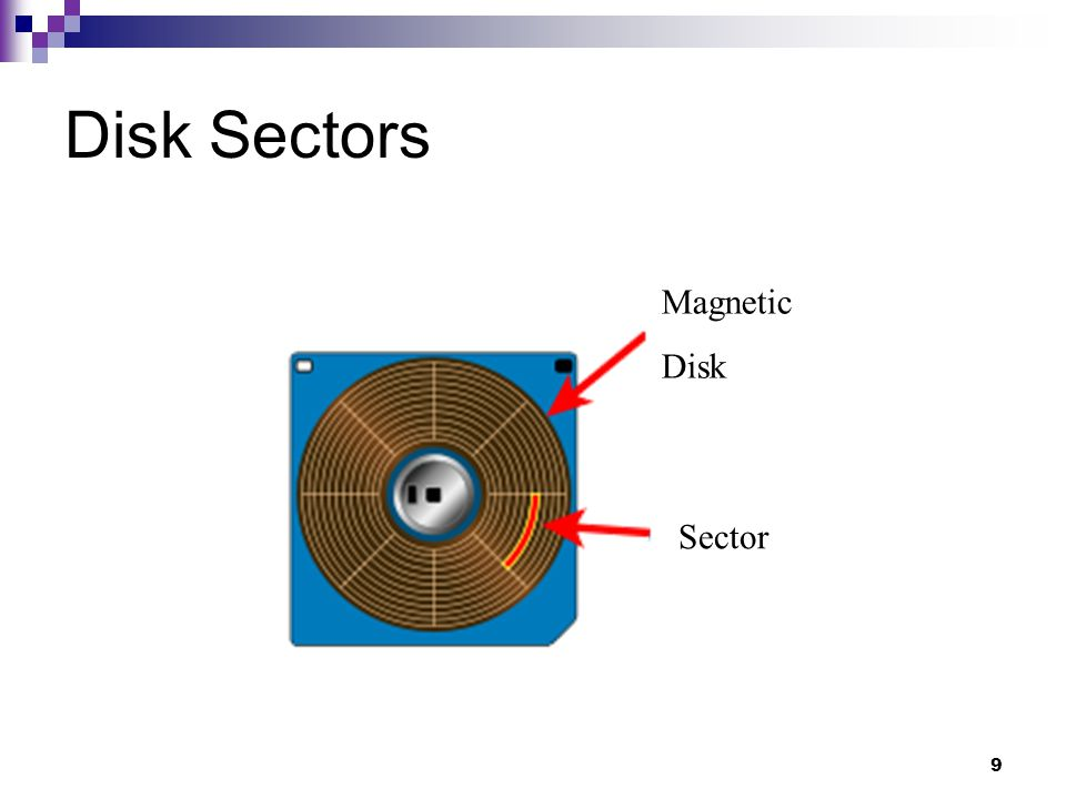 9 Disk Sectors Sector Magnetic Disk