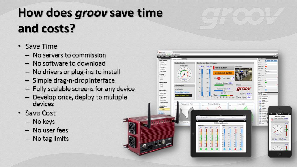 How does groov save time and costs.