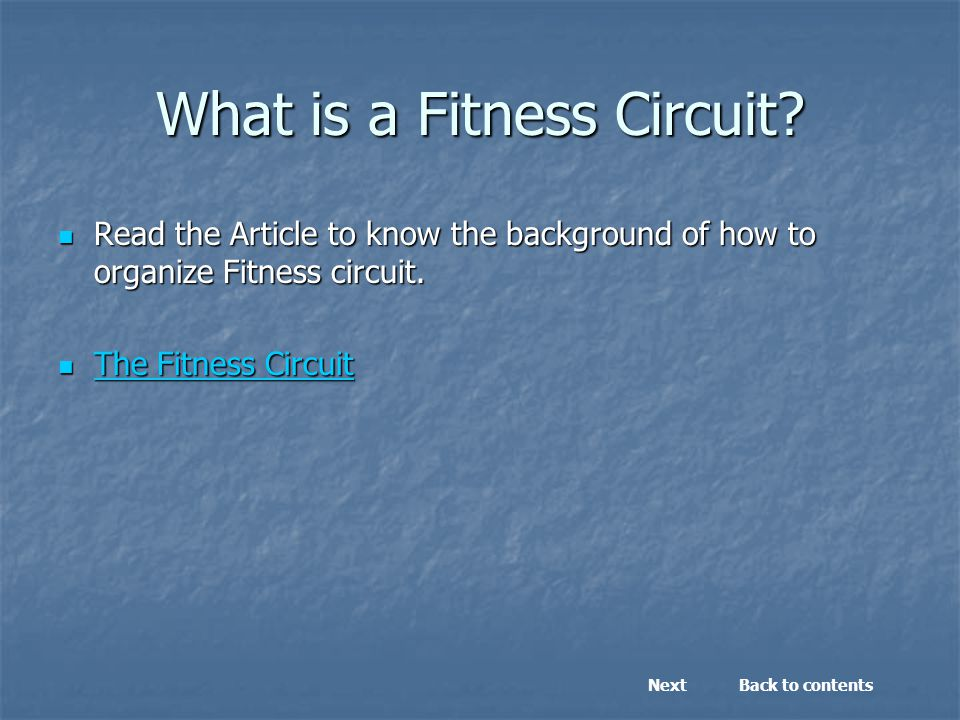 What is a Fitness Circuit.