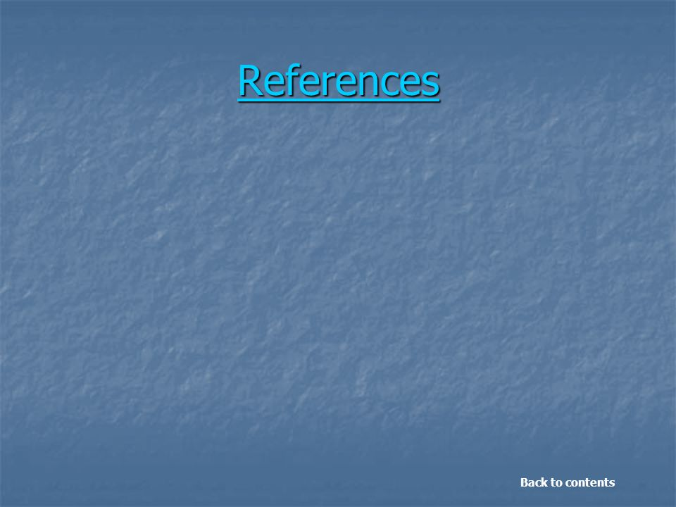 References Back to contents