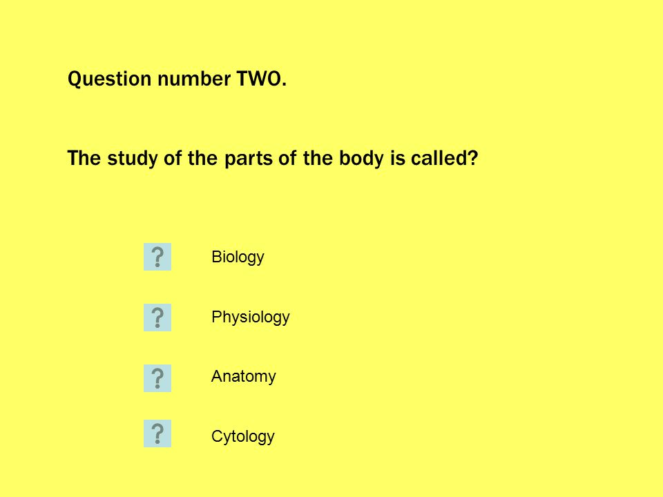 You are correct.The study of the parts of the body is called anatomy.