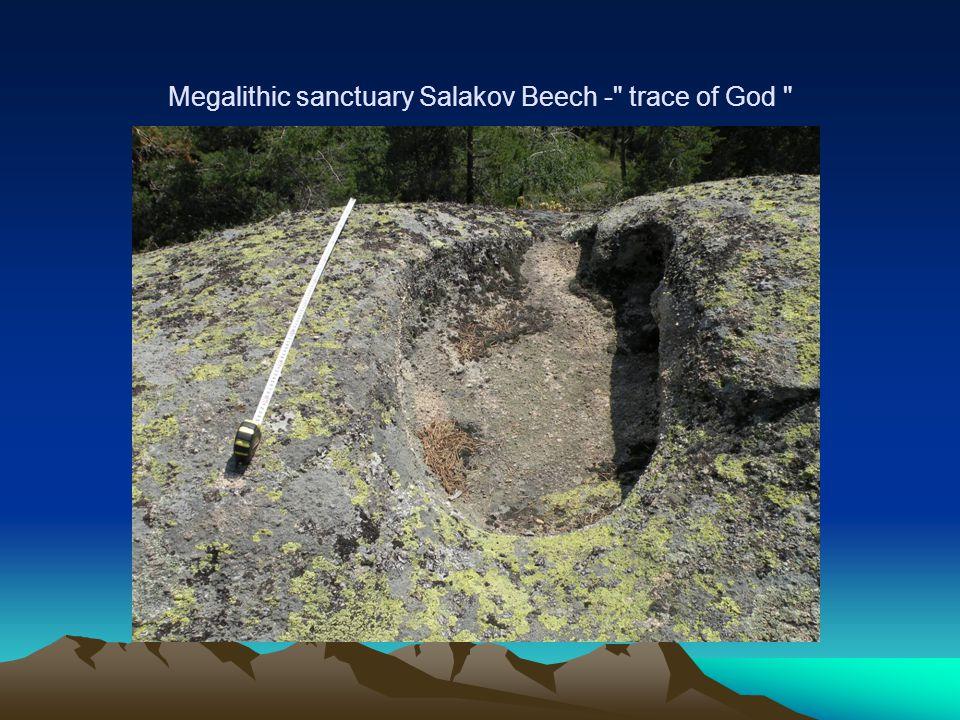 Megalithic sanctuary Salakov Beech - trace of God