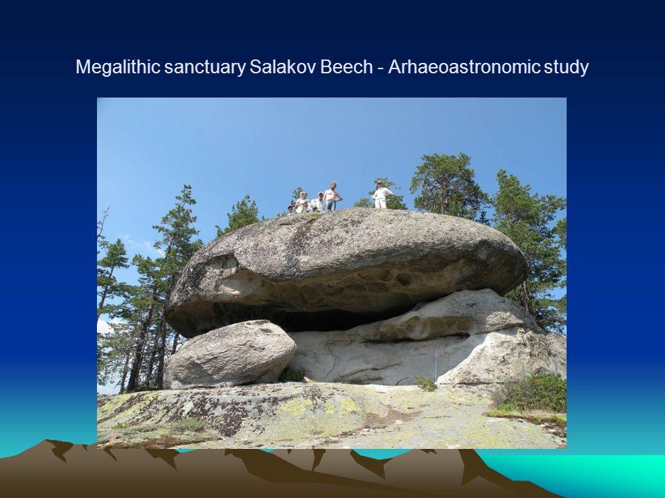 Megalithic sanctuary Salakov Beech - Arhaeoastronomic study