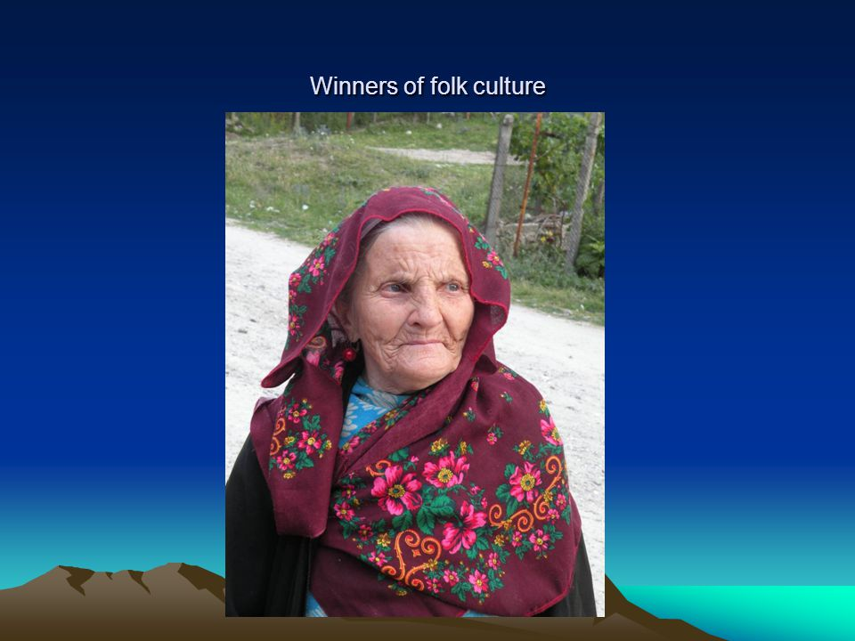 Winners of folk culture
