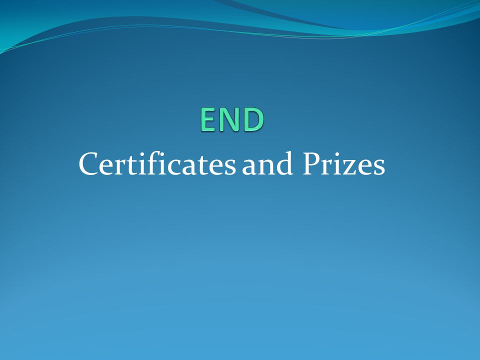 Certificates and Prizes