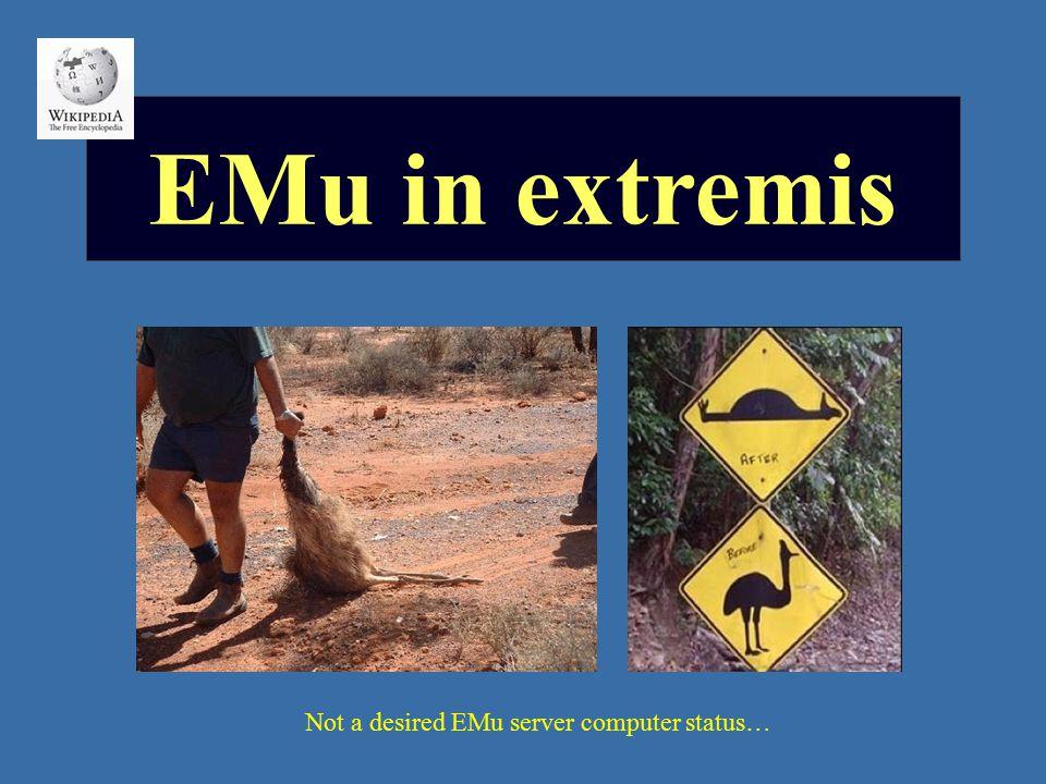 Not a desired EMu server computer status…