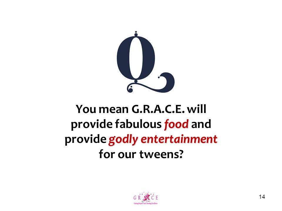 You mean G.R.A.C.E.