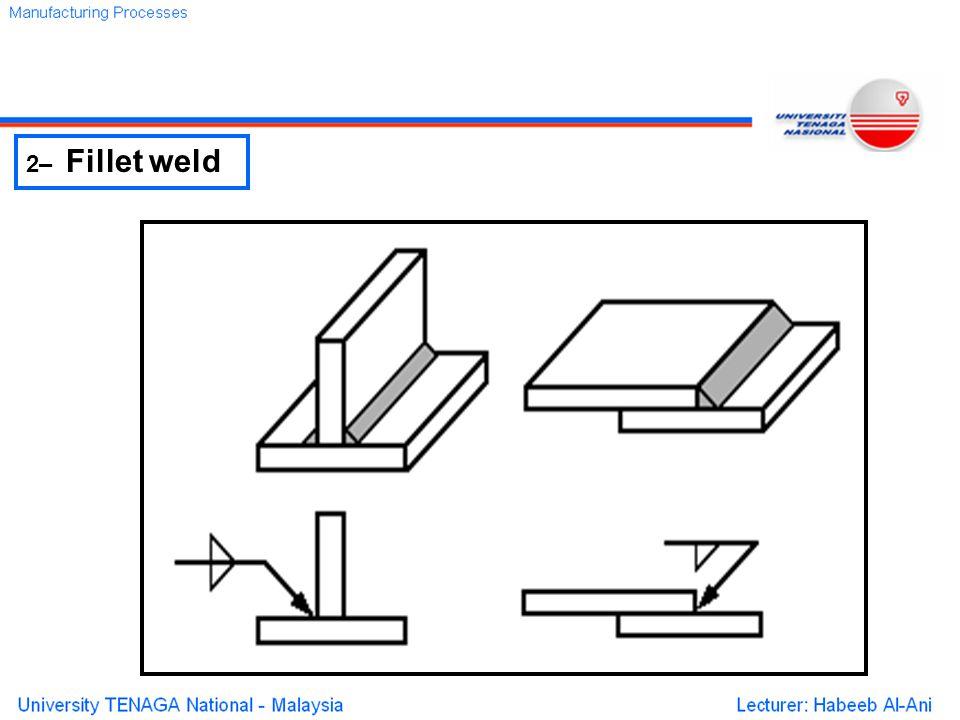 2– Fillet weld