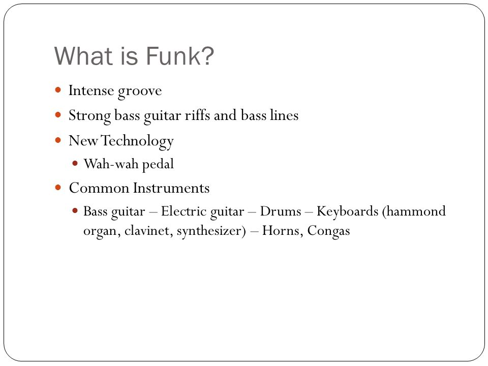 What is Funk.