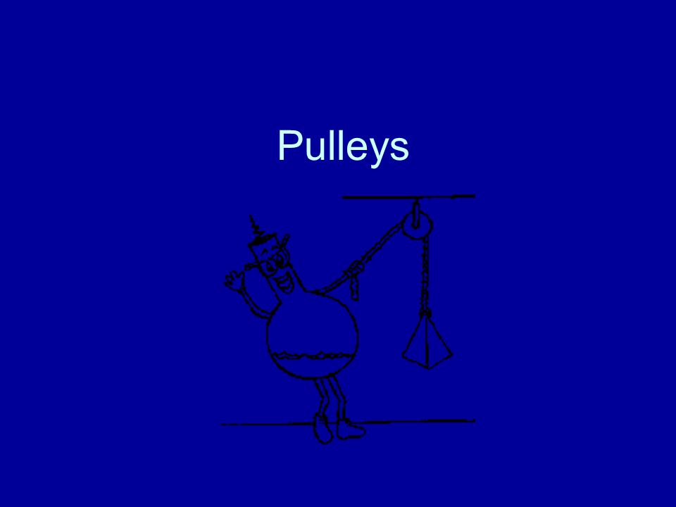 Definition A pulley is a grooved wheel with a rope, chain, or cable running along the groove.