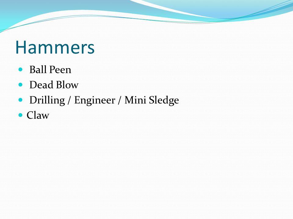 Hammers Ball Peen Dead Blow Drilling / Engineer / Mini Sledge Claw