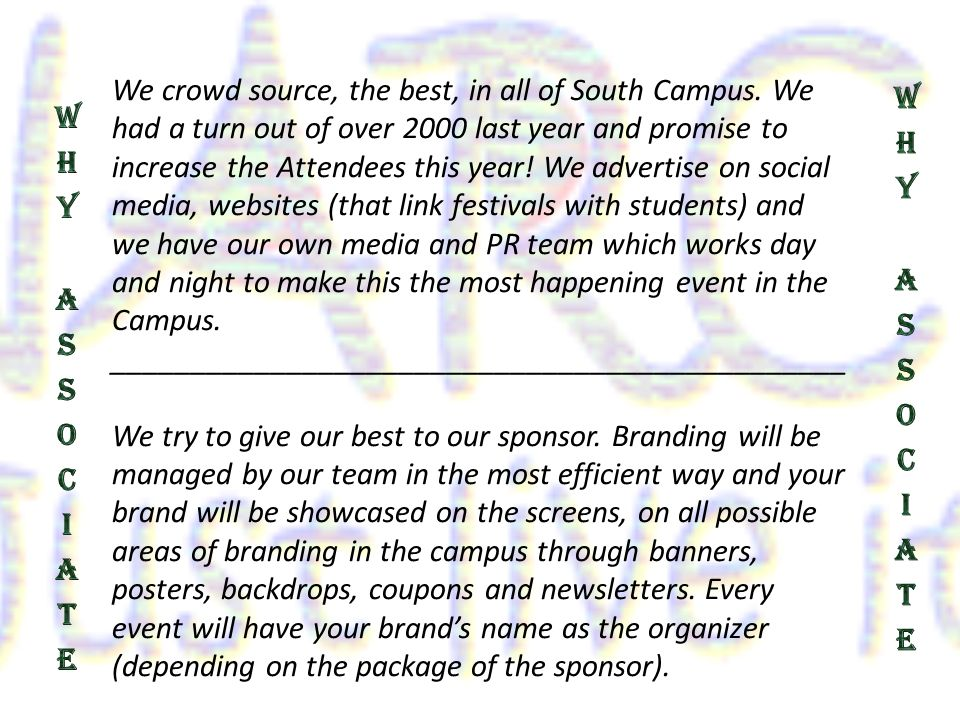 We crowd source, the best, in all of South Campus.