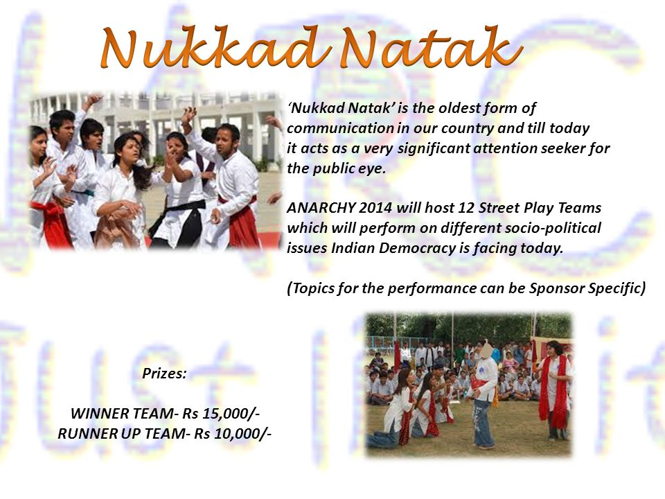 'Nukkad Natak' is the oldest form of communication in our country and till today it acts as a very significant attention seeker for the public eye.