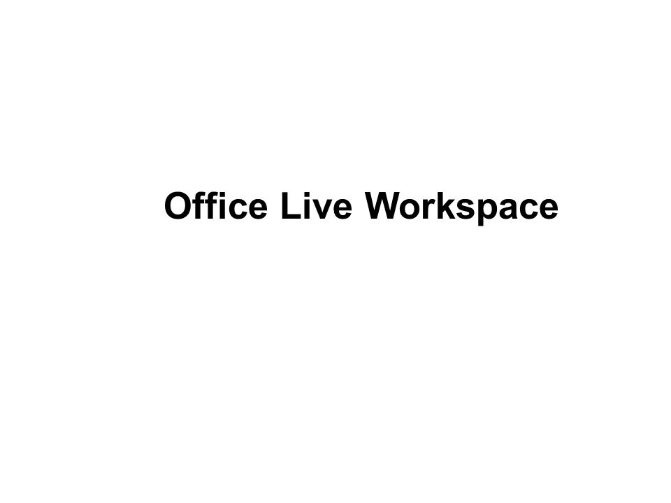 Office Live Workspace